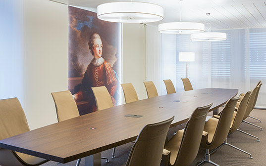 Portrait which was included in the design of an LGT meeting room in Vaduz.