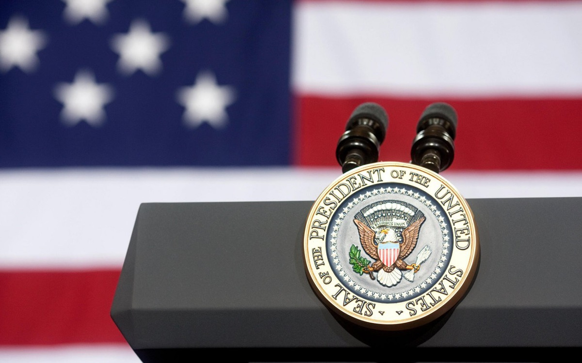 Lectern of the President of the United States of America.