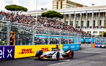 Hard-fought points for Lucas di Grassi in Rome