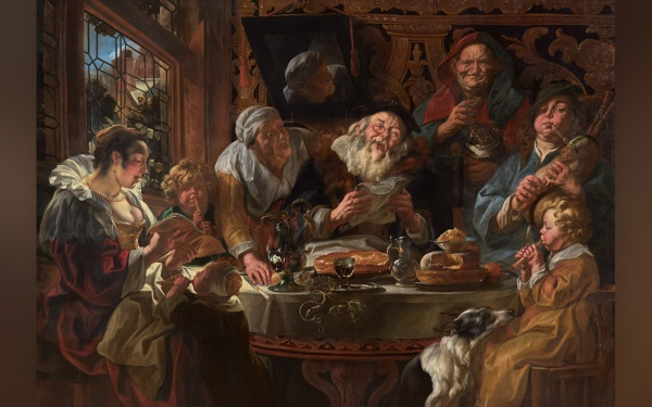 As the old sang, so the young pipe, Jacob Jordaens