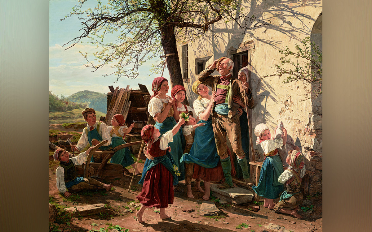 Revival to new life, Ferdinand Georg Waldmüller, 1852